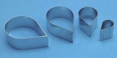 PME Cutters -Set of 4 -ROSE PETALS (Metal) -Σετ 4τεμ Κουπ πατ Πέταλα Τριαντάφυλλου