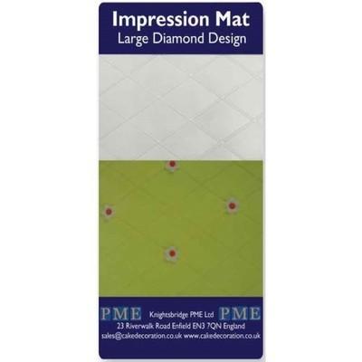 PME Impression Mat -LARGE DIAMOND -Πατάκι Αποτύπωσης Σχεδίου Μεγάλο Διαμάντι