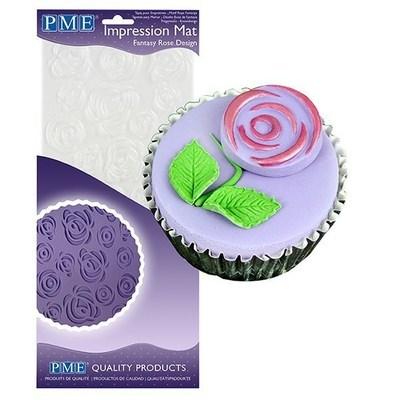 PME Impression Mat -FANTASY ROSE -Πατάκι Αποτύπωσης Σχεδίου Τριαντάφυλλο
