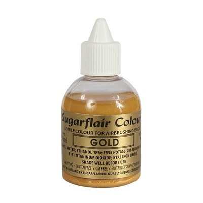 Sugarflair Airbrush Colour -METALLIC GOLD -Χρώμα Αερογράφου Μεταλλικό Χρυσό 60ml