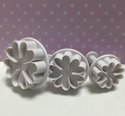 Culpitt Plunger Cutters -FLOWERS -Σετ 3τεμ κουπ πατ με Εκβολέα -Λουλούδια