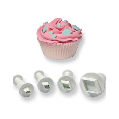 PME Geometric Plunger Cutters -Set of 4 -DIAMONDS -Σετ 4τεμ Κουπ πατ με Εκβολέα Ρόμβος