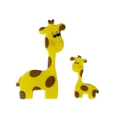 FMM Cutters -Mummy & Baby GIRAFFES -Σετ 2τεμ κουπ πατ Καμηλοπάρδαλη Μαμά & Μωράκι
