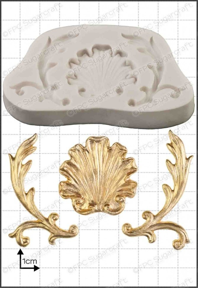 SALE!!!!  FPC -Silicone Mould -BAROQUE SHELL -Καλούπι Σιλικόνης Μπαρόκ Κοχύλι