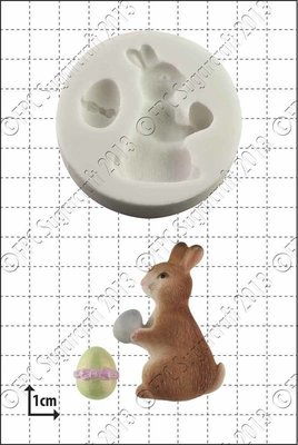 FPC Silicone Mould -EASTER BUNNY -Καλούπι Πασχαλινό Κουνελάκι