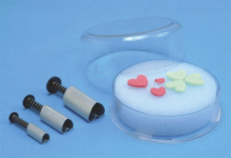 PME Geometric Plunger Cutters -Set of 3 -HEARTS - Σετ 3τεμ Κουπ πατ με Εκβολέα Καρδιά