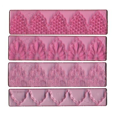 FMM 4 Piece Textured Lace Set No.1 -Σετ 4τεμ Σχέδια Δαντέλες