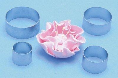 PME Geometric Cutters -BRIAR ROSE (ROUND/CIRCLES) -Σετ 4τεμ κουπ πατ για Τριαντάφυλλο (Κύκλοι/Στρογγυλά)