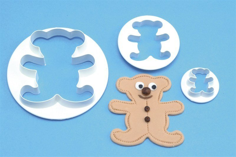 SALE!!! PME Cutters -Set of 3 -TEDDY BEARS - Σετ 3τεμ Κουπ πατ Αρκουδάκια