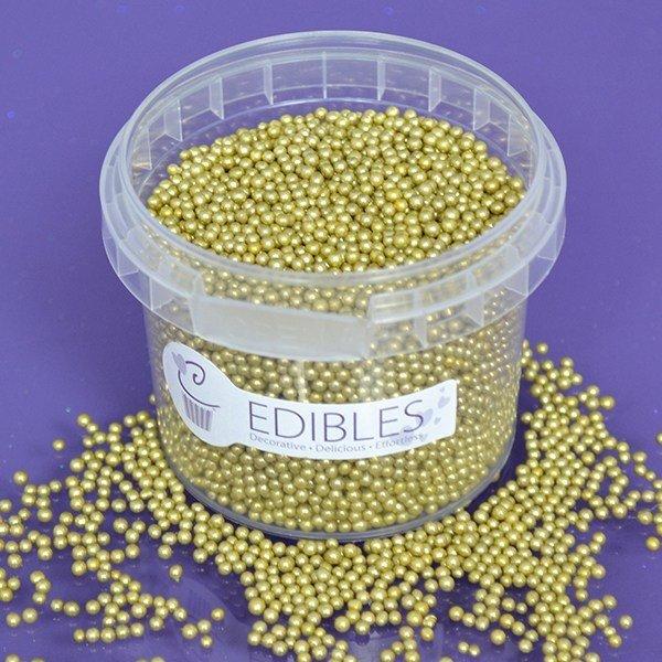 Purple Cupcakes Nonpareils -GOLD 2mm - Κας-Κας Χρυσό 100γρ