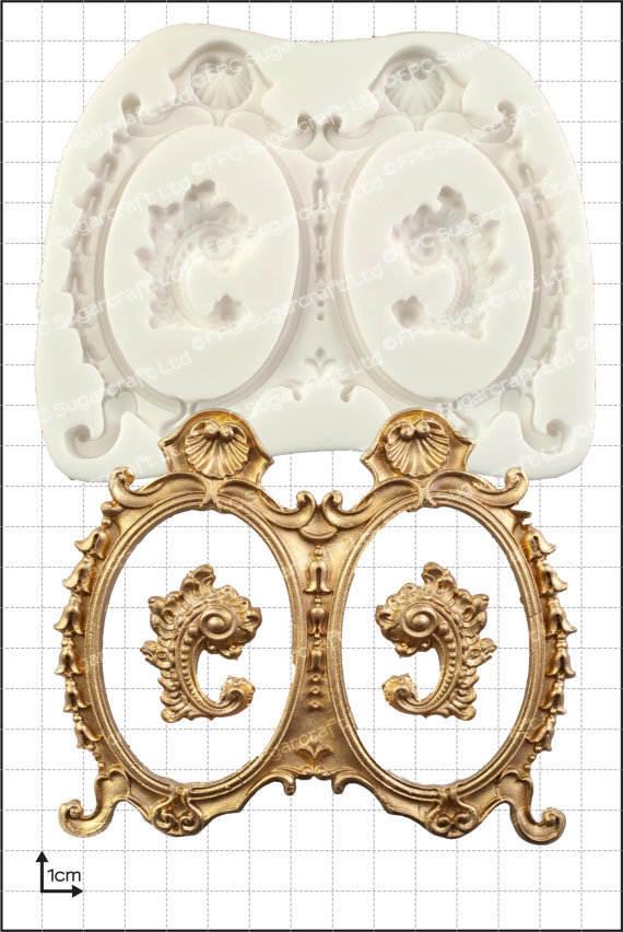 SALE!!!  FPC -Silicone Mould -FRAMES -LARGE DOUBLE -Καλούπι Σιλικόνης Μεγάλες Διπλές Κορνίζες