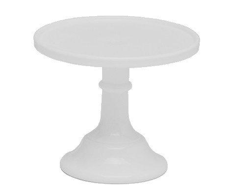 SALE!!! Mosser - Glazed Milk Glass Stand White 15cm - Γυάλινη Βάση - Λευκή - 15εκ