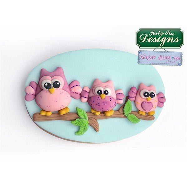 SALE!!! Katy Sue Silicone Mould -Sugar Buttons -OWLS -Καλούπι Σιλικόνης Κουκουβάγιες