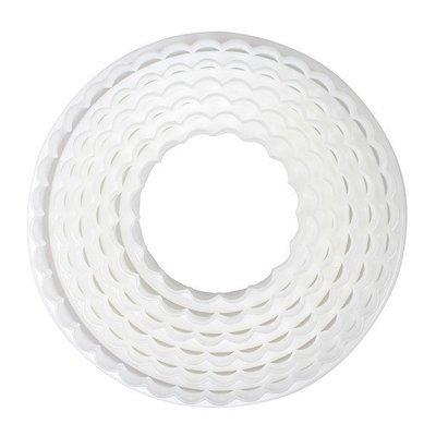 Cake Star Cutters -Set of 6 PLAIN & FLUTED CIRCLES- Σετ 6 τεμ κουπάτ Ίσιοι και Κυματιστοί Κύκλοι