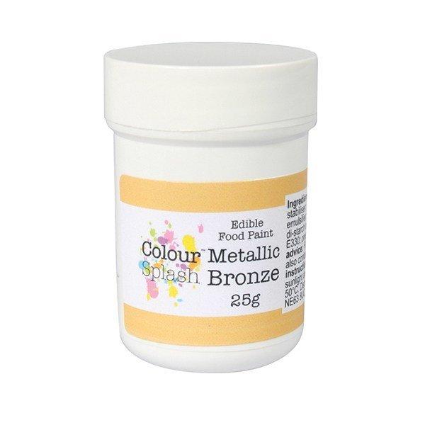 SALE!!! Colour Splash Edible PAINT -METALLIC BRONZE -Βρώσιμο Χρώμα Ζωγραφικής -Μεταλλικό Μπρονζέ 25γρ -ΑΝΑΛΩΣΗ ΚΑΤΑ ΠΡΟΤΙΜΗΣΗ 31/7/2020