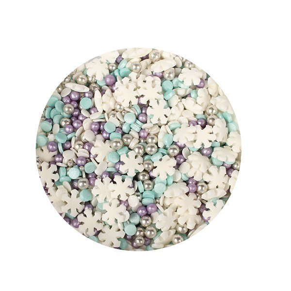 Purple Cupcakes Sprinkle Mix -SNOWSTORM MIX -Ανάμεικτα Ζαχαρωτά  Χρώματα Χιονοθύελλας 100γρ