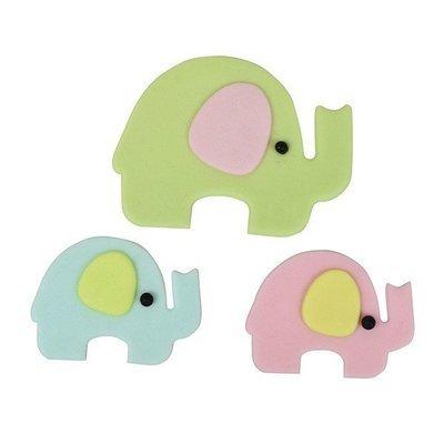 FMM Cutters -Mummy & Baby ELEPHANTS - Σετ 4τεμ κουπ πατ Ελέφαντας Μαμά & Μωράκι