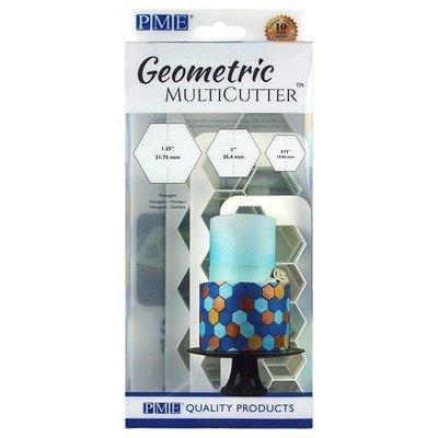 PME Geometric Multicutters -Set of 3 -HEXAGON - Σετ 3τεμ Πολλαπλό Κουπ πατ Εξάγωνο