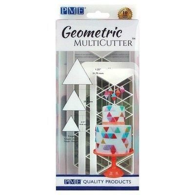 PME Geometric Multicutters -Set of 3 -EQUILATERAL TRIANGLE - Σετ 3τεμ Πολλαπλό Κουπ πατ Ισόπλευρο Τρίγωνο