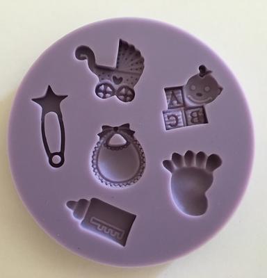 #Mould - Baby Designs - Καλούπι Σιλικόνης Μωρουδίστικα Σχέδια - Περίπου 6εκ