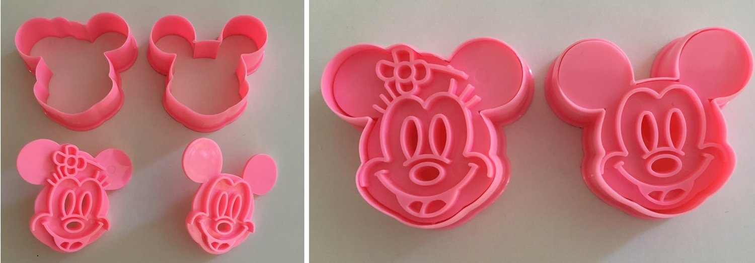 #Mickey & Minnie Mouse Cutters & Embossers - Κουπ πατ με Εκβολεά - Μίκι & Μίνι - 3x2εκ