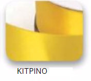 Ribbons - 3.5mm Satin Ribbon Yellow Double Faced 100m - Κορδέλα Σατέν Διπλής Όψης Κίτρινη