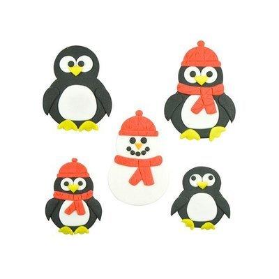 SALE!!! FMM Cutters -Mummy & Baby PENGUINS/SNOWMEN - Σετ 2τεμ Κουπ πατ Πιγκουίνος/Χιονάνθρωπος Μαμά & Μωράκι
