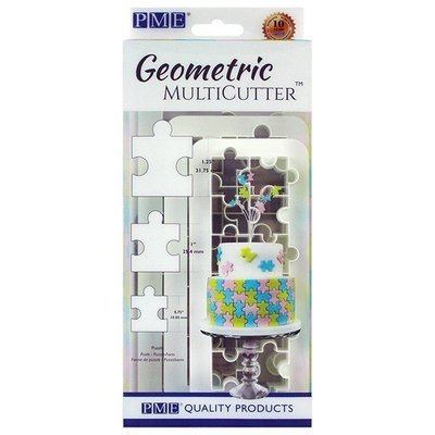 PME Geometric Multicutters -Set of 3 -PUZZLE -Σετ 3τεμ Πολλαπλό κουπ πατ Παζλ