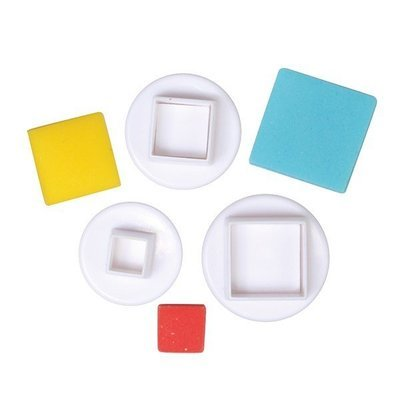 Cake Star Plunger Cutters -SQUARE - Σετ 3 τεμ κουπ πατ Τετράγωνο με Εκβολέα
