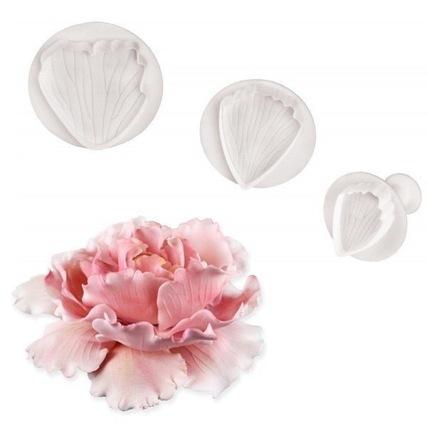 PME Plunger Cutters -Set of 3 -PEONY -Σετ 3τεμ κουπ πατ με Εκβολέα Παιώνια
