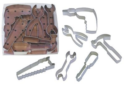 By AH -Set of 6 Cookie Cutters 'TOOLS' - Σετ 6 τεμ κουπ πατ Εργαλεία