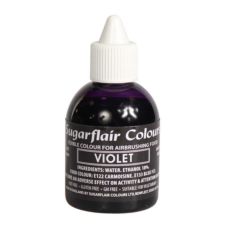Sugarflair Airbrush Colour -MATT VIOLET -Χρώμα Αερογράφου Ματ Βιολετί 60ml