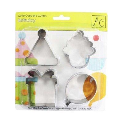 Autumn Carpenter BIRTHDAY Cupcake And Cookie Cutters -Κουπ πάτ με Θέμα Χαρούμενα Γενέθλια 4 τεμ