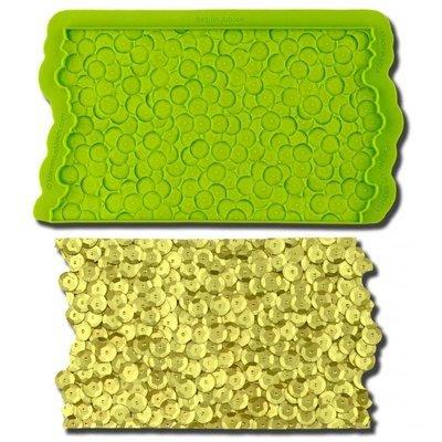 Marvelous Molds SIMPRESS Embossing Mat -SEQUIN JUBILEE -Ανάγλυφο Πατάκι Σιλικόνης Πούλιες/Παγιέτες