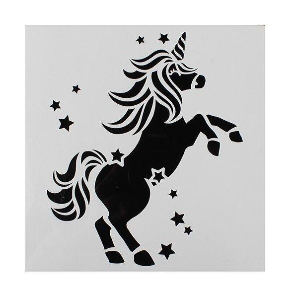 SALE!!! Cake Star - Stencil Unicorn - Στένσιλ Μονόκερος - 148x148χιλ