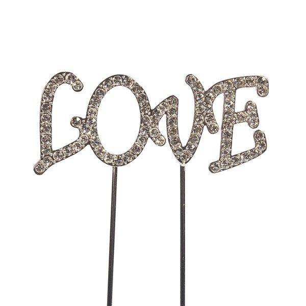 SALE!!! Cake Star Topper Diamante -LOVE -Τόπερ με Διαμαντάκια 'LOVE'
