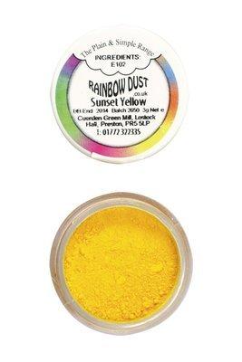 Rainbow Dust Edible Dust -Matt SUNSET YELLOW -Βρώσιμη Σκόνη Ματ Κίτρινο του Ηλιοβασιλέματος