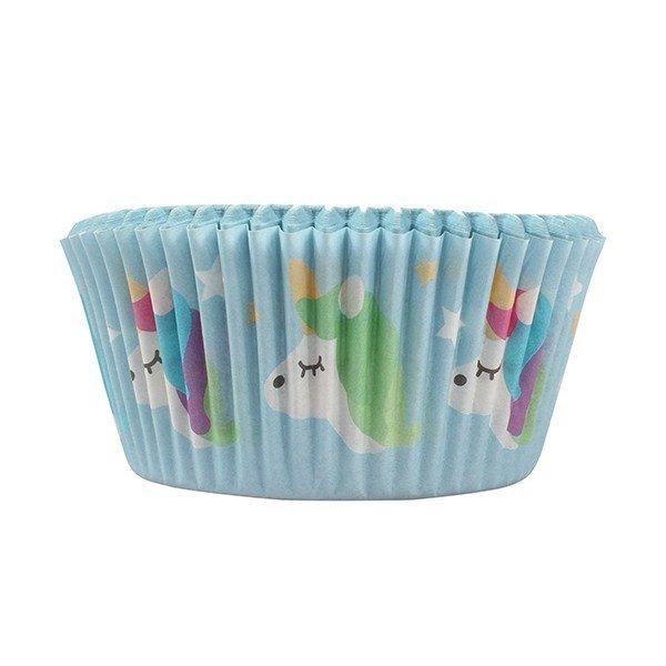 Themed Baking Cases -Foil Lined Baking Cases - 24 piece -UNICORN - Θήκες ψησίματος με αλουμινόχαρτο Μονόκερος 24τεμάχια 50χιλ