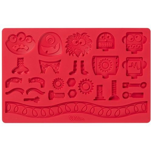 SALE!!! By Wilton -Silicone Mould -ROBOT & MONSTER -Καλούπι Σιλικόνης Ρομπότ & Τέρατα 19.7x12.5εκ
