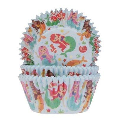 By House of Marie Cupcake Cases -MERMAID -Θήκες Ψησίματος -Γοργόνα 50 τεμ ∞