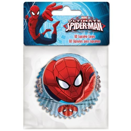 SALE!!! Themed Baking Cases -Spiderman. Pack of 60 - Θήκες ψησίματος Σπάϊντερμαν 5x3.5εκ