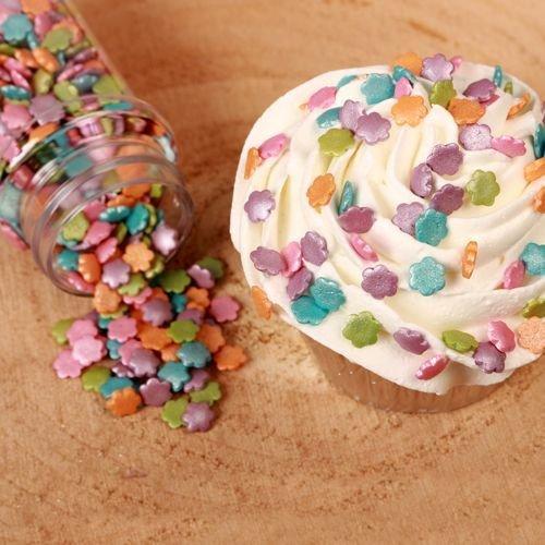 FunCakes Sprinkles -METALLIC FLOWER MIX -Ζαχαρωτά Λουλούδια Μεταλιζέ 70γρ