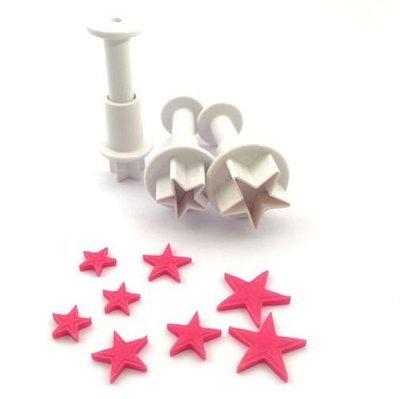 Dekofee Plunger Cutter -MINI STARS - Σετ 3τεμ κουπ πατ με Εκβολέα Μίνι Αστεράκια