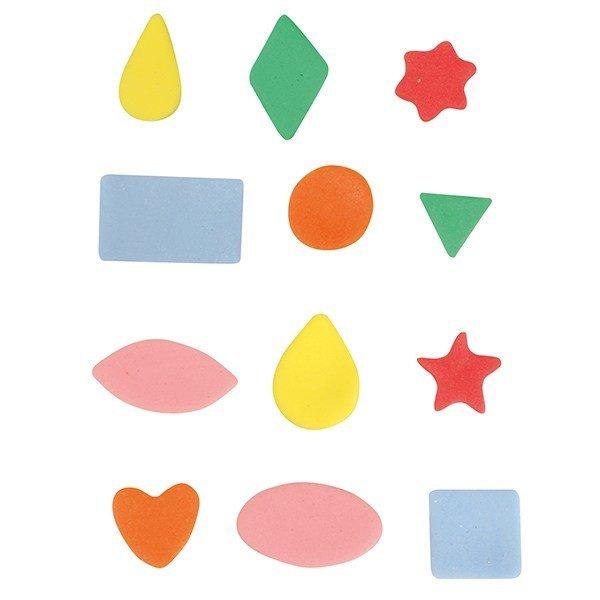Cake Star Mini Metal Cutters -BASIC SHAPES - Σετ 12τεμ Μικρά Μεταλλικά Κουπάτ Βασικά Σχήματα
