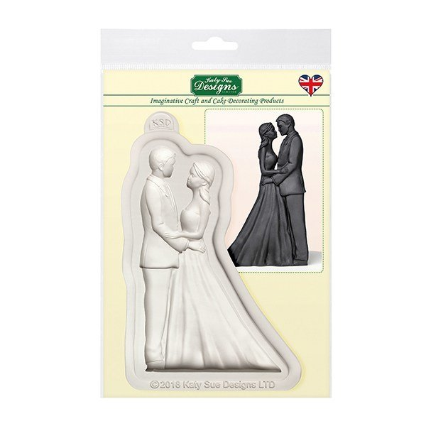 SALE!!! Katy Sue Silicone Mould -THE BRIDE & GROOM -Καλούπι Σιλικόνης  'Ο Γαμπρός & η Νύφη'