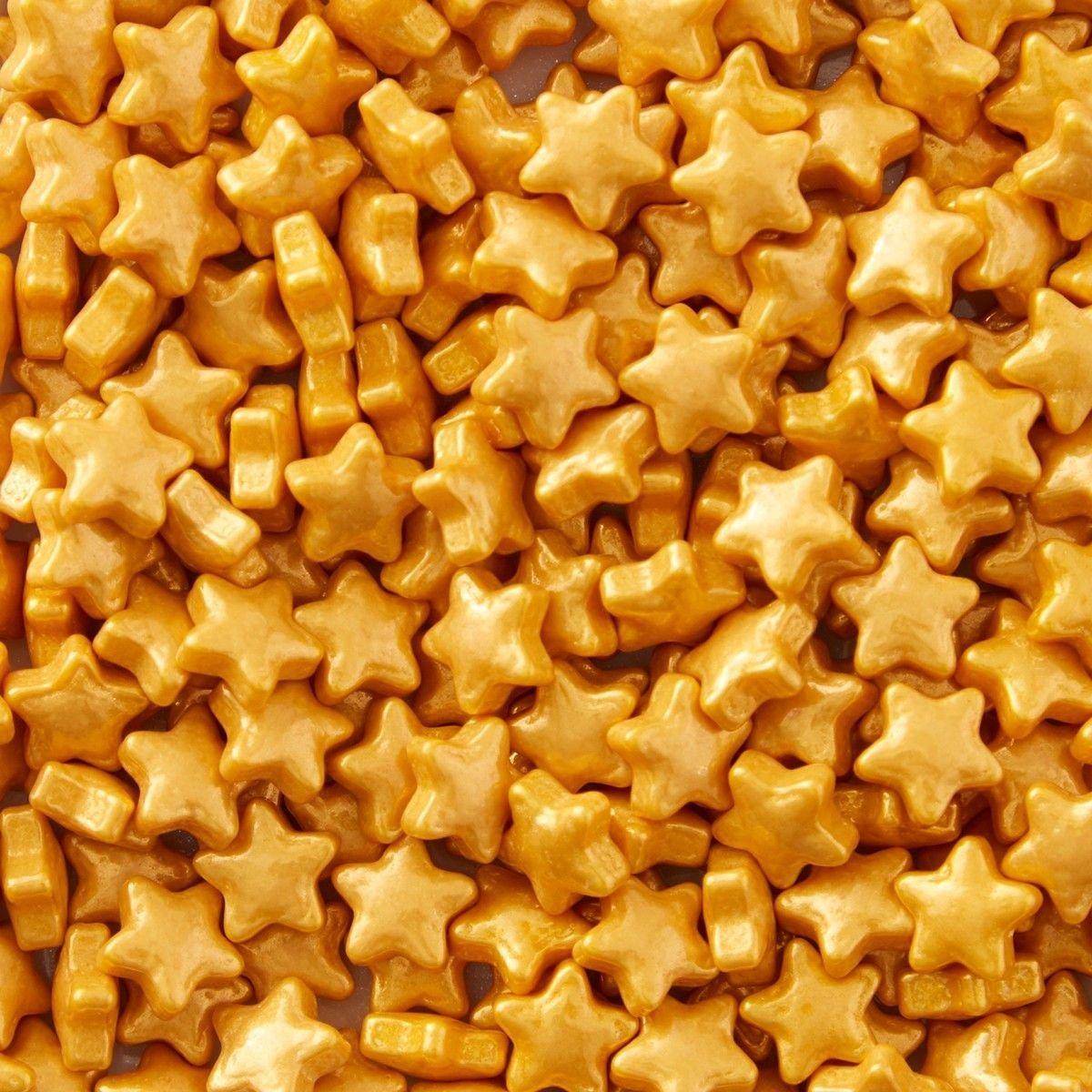 Wilton Sprinkles -GOLD STARS 56g - Βρώσιμα Ζαχαρωτά Χρυσά Αστέρια