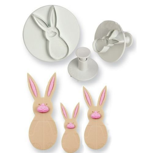 PME Plunger Cutters -Set of 3 -RABBITS/BUNNIES -Σετ 3τεμ κουπ πατ με Εκβολέα Κουνέλι/Λαγός