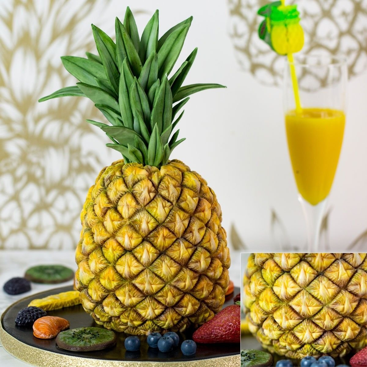 Karen Davies Silicone Mould -TROPICAL PINEAPPLE -Καλούπι Σιλικόνης  Τροπικός Ανανάς