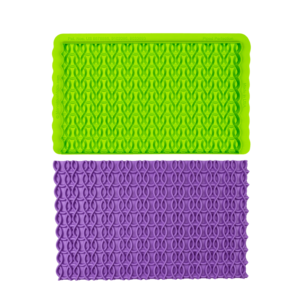 SALE!!! Marvelous Molds SIMPRESS Embossing Mat -PIPED PERFECTION -Ανάγλυφο Πατάκι Σιλικόνης Σωλήνας