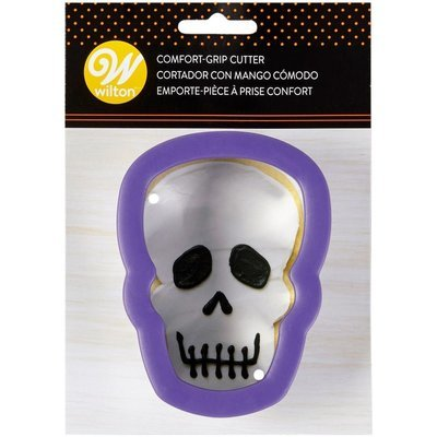 Wilton Halloween Metal Grippy Cutter -SKULL/HEAD -Κουπ πατ Νεκροκεφαλή με λαβή σιλικόνης 11εκ